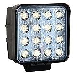 LED de travail, feux, feux de recul, 12V, 24V, 48W, carré, IP67, noir, LY8048 4.5