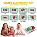Kids Science Kit,VFENG 335 Science Experiment Kits,Electronic Building Block Kit,Smart Electric Circuit Kits,Educational Science Kit Toy,Science For Kids,Great DIY Circuit Experiments Set for Kids Boys Girls With 31 Snap parts
