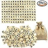 JPSOR 500 Piezas Letras de Madera Scrabble Letras del Reemplazo