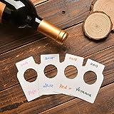 Etichette della bottiglia di vino del Libro Bianco - etichette della cantina per vini della carta comune di conteggio 200