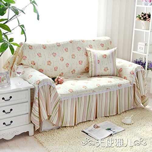 JHS Divano divano vento giardino fiore sabbia un panno asciugamano di cotone lavaggio completo , 180*350cm