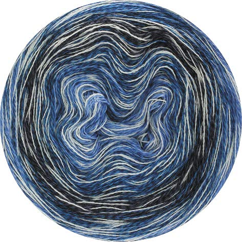 Lana Grossa Mirror Shades 705 - Blau/Weiß/Petrolblau/Anthrazit
