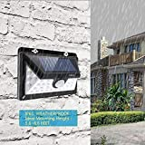YOZO Solar Lights Motion Sensor Security Lights,32 LED Solar Powered Light Wireless Waterproof Security Light for Outside Wall Motion Activated, Wide Angle Sensor with Front Switch Ozoy