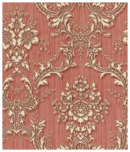 zambaiti-parati-carta-da-parati-damascata-e-floreale-con-fondo-rosso-effetto-tessuto-striato-e-stamp