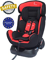 R for Rabbit Jack N Jill Grand Car Seat - The Innovative Convertible Car Seat for Babies/Kids (from 0-7 Years) (Red Black)