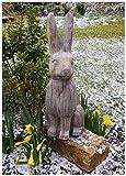 F&G Supplies Figura Decorativa para Jardín (Grande, Acabado con Efecto Piedra, Ideal para Jardines, Puertas, invernaderos o Interiores)