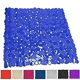 MSV 140890 Duschmatte Badematte Duscheinlage antibakteriell rutschfest mit Saugnäpfen - Blau - ca. 53 x 53 cm