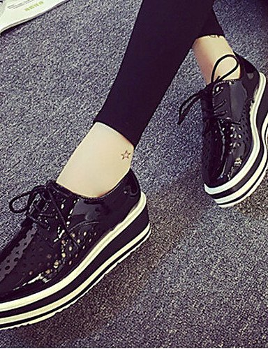 ZQ hug Scarpe Donna-Sneakers alla moda-Formale / Casual-Comoda / Punta squadrata-Zeppa-Finta pelle-Nero / Grigio , gray-us8 / eu39 / uk6 / cn39 , gray-us8 / eu39 / uk6 / cn39 gray-us7.5 / eu38 / uk5.5 / cn38