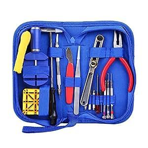 Watch Repair Kit, Ohuhu Professional Spring Bar Tool Set Watch Band Link Pin Tool Set with Carrying Case