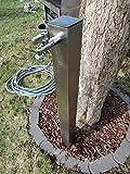 SchneckMetall Wasserzapfstelle Edelstahl Wassersäule Wasserverteiler 75cm WSQ8075