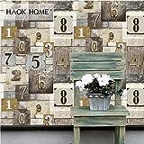 KYKDY Vintage verzweifelt Holz PVC Tapete verwitterte Wandbilder für Wand 3d grau/braun/beige Wohnzimmer Schlafzimmer Home Decoration, Dark Khaki, USA