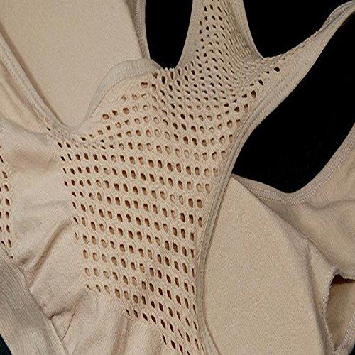 Hsnnyqt Donna Il Movimento Classico Traspirante Maglia Reggiseno Sportivo Doppio Strato Nessuna Traccia Di Biancheria Intima Sportiva Di Grandi Dimensioni White