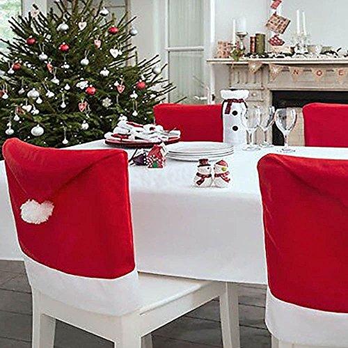D FantiX Babbo Natale Sala Da Pranzo Copri Sedie, Set 6 Coprisedia Natalizi,  Decorazione Di Natale Xmas Party Per Decorazioni Natalizie   Fodere  Coprisedia ...