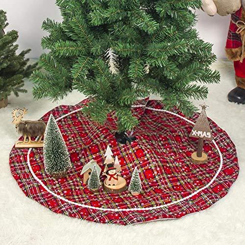 Falda de árbol de Navidad, 39 pulgadas Faldas de árbol rojas y ...