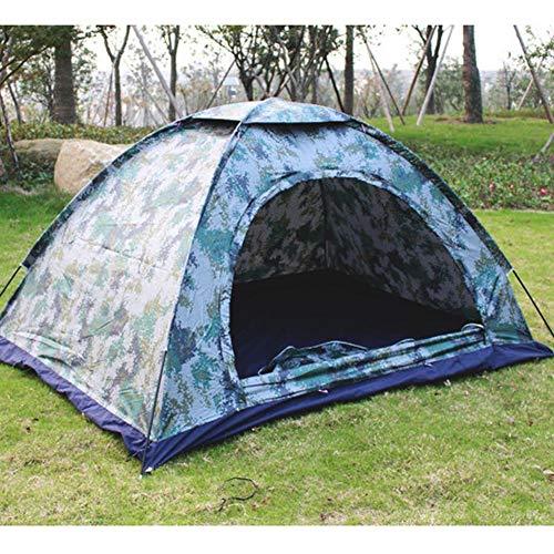 Rejoicing Wasserdichtes Campingzelt für 2 Personen, Camouflagezelt regenfest Outdoor Camping Zelt, UV-Schutz Zelt, Planen Belüftung, Fenster Mesh, einfache Einrichtung für Wandern Reisen