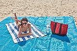 Sand frei Strand Matte von skyiol, 200x 200cm Outdoor Familie Picknick/Camping/Strand Play/Strand Decke Picknick Matte Extra–leicht reinigen und schnell trocknen -