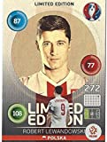 Robert Lewandowski Polen Polska Hero Limited Edition Panini Adrenalyn XL EURO 2016 Sammelkarte Tradingcard Karte Card Checkliste