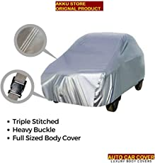 AUTO CAR COVER Matty Silver Maruti New Wagon R Model Car Body Cover
