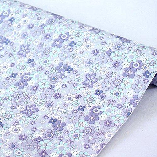 lovefaye Abziehen & Aufkleben Regal Liner Waterproof Kontakt Papier frischen Rent House Old Möbeln Schubladen, lila Floral, 45cm von 9.8Füße -