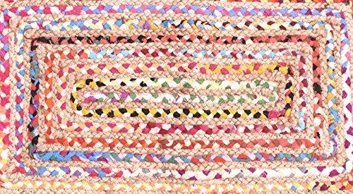 3 Handgefertigte Wolle Teppiche (Indische Baumwolle Teppich Traditionelle Handarbeit Baumwolle Jute Teppich Jute Baumwolle geflochtenen Teppich Boden Jute Teppich klein Jute Teppich indischen geflochtenen Teppich Baumwolle geflochten Flickenteppich handgefertigt 91,4x 61cm Jute Flickenteppich, handgefertigt Baumwolle Jute Boden Teppich Teppich Block Print indischen Teppich, Teppich Läufer, handgewebt Teppich, Fußmatte, Indian Block Print Teppich, Indian handgefertigt 2x 3Flickenteppich, indischen Kilim Teppich, Fußmatte)