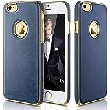 """LOHASIC iPhone 6s Caso,[Nuevo Híbrido] TPU Parachoques Del Marco [Prima Cuero Texturizado] Caso La Cubierta Protectora Ajuste Delgada Para El iPhone 6 & iPhone 6s – 4.7"""" Azul Marino"""