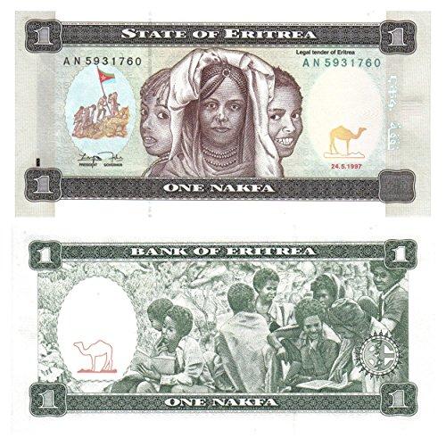 Bank Cello (Eritrea eine nakfa Banknote von der Bank of Eritrea für die Banknotensammler/ 1997 ausgestellt)