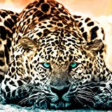 Set Diamond Painting Handarbeit Basteln Mosaik Bild Leopard Tiere 30 x 30 cm