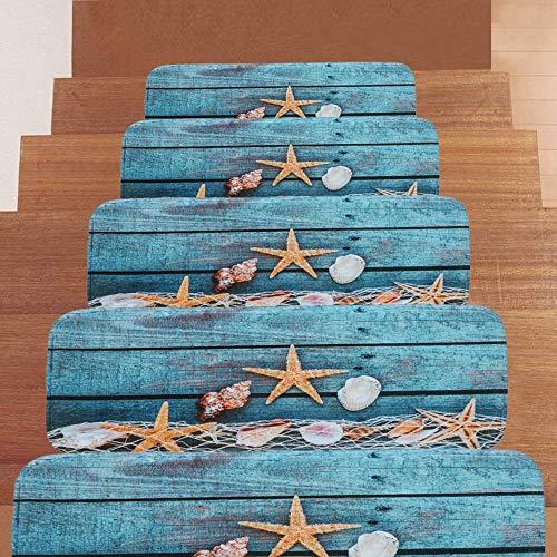 Textilfaser - Stufenmatten,Stufenmatten Kleinformat Für Raumspartreppen/Wendeltreppen(22 X 70 cm) (Size : 10pieces)
