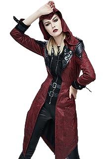 3009dca1eac33d Devil Fashion Gothic Damen PU Leder Lange Herbst Winter Punk Jacken  Steampunk Mode Frauen Stattlichen Mäntel