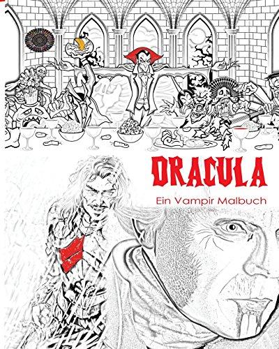 Dracula Malbuch: Stressfreies Erwachsenen Malbuch und Mandalas von Graf Dracula, Fledermäuse, Halloween, Horror Kostüme, Skeleton Augäpfel, Geister, ... Jugend in den dunklen Farben (Kostüme Erwachsenen Dunkle)
