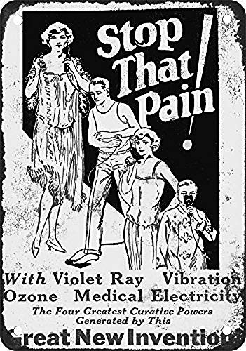 Toddrick 1931 No Pain with Violet Ray Zinn schicke Zeichen Vintage-Stil Retro Küche Bar Pub Coffee Shop Dekor 8