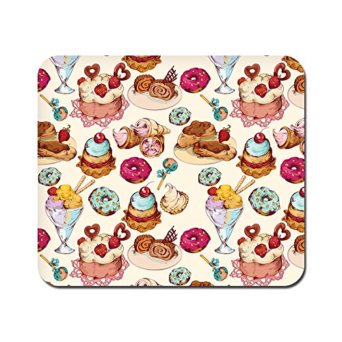 kmltail Ice Cream Love Design Speed Mouse Mat for HP Dell Lenova iball Dragonwar Red Dragon Logitech ibuypower Zebronics Printed Photo Scene Natural Rubber Gaming Mouse Pad Non Slip base-Kmltail  available at amazon for Rs.159