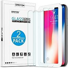 OMOTON [2 Stück] Panzerglas Schutzfolie für iPhone XS/iPhone X, iPhone XS/iPhone x Displayschutzfolie mit Positionierhilfe, 9H Härte, Anti-Kratzen, Anti-Öl, Anti-Bläschen, [5.8 Zoll]