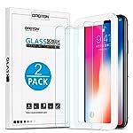 OMOTON Panzerglas Schutzfolie für iPhone XS / iPhone X, iPhone XS / iPhone x Displayschutzfolie mit Positionierhilfe, 9H...