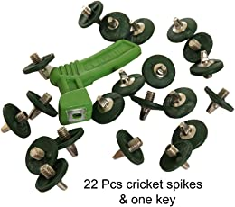 Lauris Cricket Green Spikes (Pack of 22)