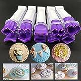 Set de 3 clips de lazo tipo flor de acero inoxidable y con molde para decorar galletas, cupcakes,...