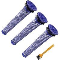 ABC life Dyson Washable Pre Motor Stick Filters for DC58 DC59 DC61 DC62 V6 V7 V8 Animal Vacuum Cleaner (Pack of 3) …