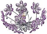 Design Decken Leuchte Blumen Lampe lila Beleuchtung Chrom Globo 5142
