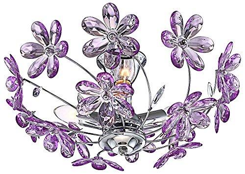Design Decken Leuchte Blumen Lampe lila Beleuchtung Chrom Globo 5142 (Blumen-lampe)