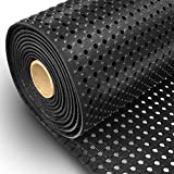 etm® Rubber Mat for Pool / Wet Area | Non-Slip Floor Matting for Swimming Pools, Industrial, Kitchen Areas | Water Resistant, Black - 100x100cm