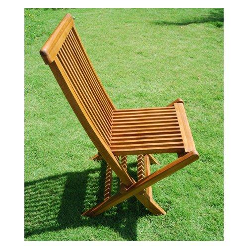 Chaise de jardin pliante en bois de teck huilé