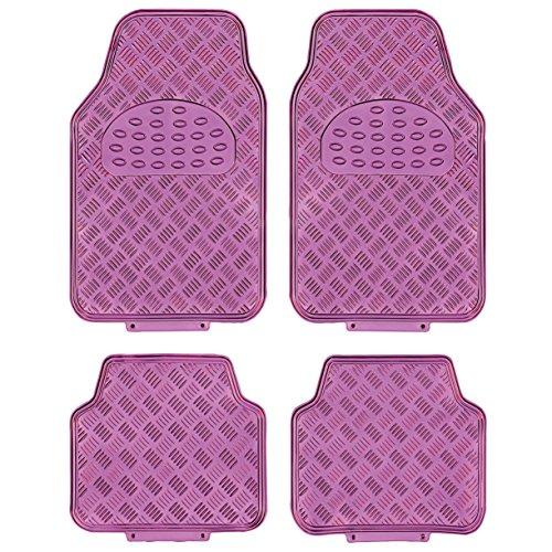 Sumex apa60pk race sport - set tappeti universali alu-look, pink