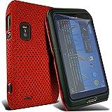 Spyrox Nokia E7 Red Ausgestattet Ineinander greifen-Netz stark Fall-Abdeckung Haut