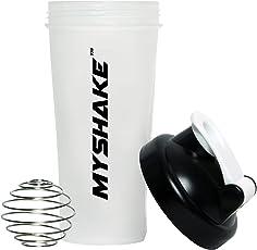 Myshake 13009 Classic Protein Plastic Shaker Bottle, 600ml (Black)