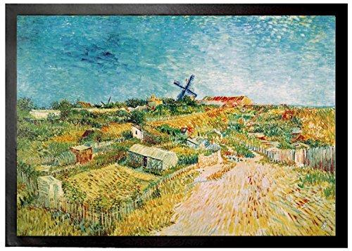 Vincent Van Gogh - Huertos En Montmartre, 1887 Felpudo Alfombrilla (70