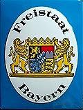 Freistaat Bayern Blechschild, 30 x 40 cm