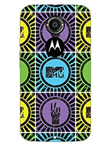 Moto X2 Cases & Covers - MTV Gone Case - Music Is My Life - Colorfull - Designer Printed Hard Shell Case