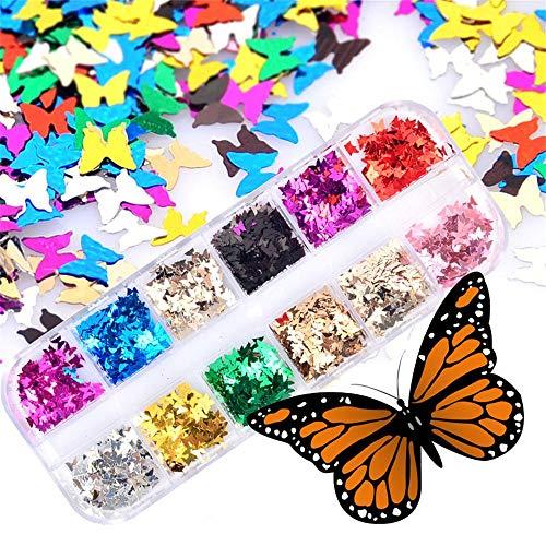 Butterfly Pattern 3D Nail Decoration Nageldekoration Fällt Nicht Einfach ab -