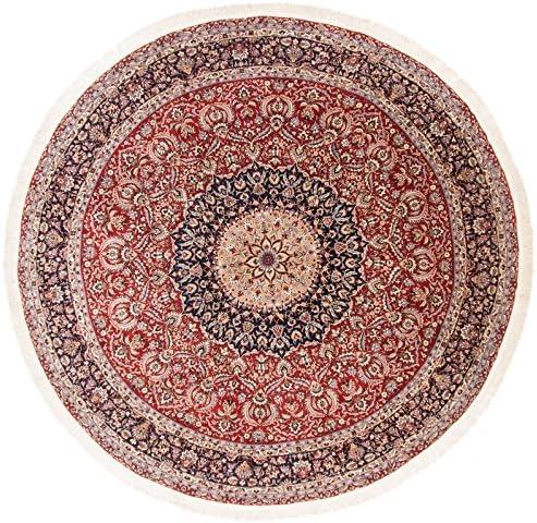 CarpetFine  Tappeto Cinesi Isfahan - 307x314 cm Blu,Rosso a - Annodato a Blu,Rosso Mano - Ornamentale 4ac02f