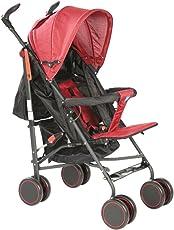 Mee Mee Lightweight Baby Stroller with Reclining Seat, Dark Red